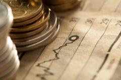 Menniczy i mapa biznesu pojęcie Fotografia Stock