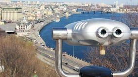 Menniczy obuoczny teleskop na obserwacja pokładzie w Kijów zbiory