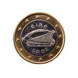 Menniczy warty jeden euro Zdjęcia Stock