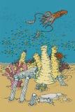 meno lombok острова Индонесии gili около мира черепахи моря подводного Стоковое Изображение