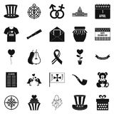 Menology icons set, simple style Royalty Free Stock Photo