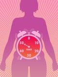 Menopausa ilustração stock