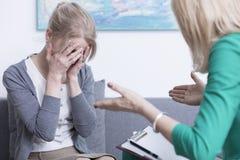 Menopausa, salute mentale ed emozioni Fotografia Stock Libera da Diritti
