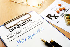 Menopause concept. Royalty Free Stock Photography
