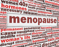 Menopause poster design Royalty Free Stock Image