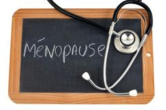 Menopause on a school slate stock illustration