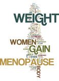 Menopause And Weight Gain Text Background  Word Cloud Concept Stock Image