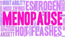 Menopause Word Cloud. On a white background vector illustration