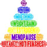 Menopause Word Cloud. On a white background stock illustration