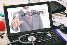 Menopause written on a computer`s screen Royalty Free Stock Photos