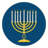 Menora για τον εορτασμό Hanukkah Στοκ εικόνα με δικαίωμα ελεύθερης χρήσης