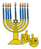 Menora,hanukkah Royalty Free Stock Photos