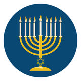 Menora For Hanukkah Celebration Royalty Free Stock Image