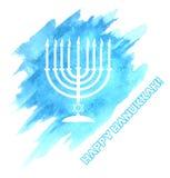 Menora para a celebração do Hanukkah ilustração royalty free