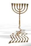 menorah被反射的水