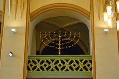 menorah -内部maisel犹太教堂,布拉格,捷克共和国 库存图片