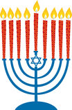 Menorah stock illustratie