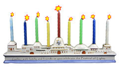 Menorah - 2 Royalty Free Stock Images