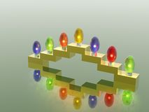 Menorah. 3D. Garland Royalty Free Stock Images