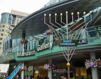 Menorah along Orchard Road, Singapore Royalty Free Stock Photo