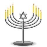 Menorah with Burning Candles  Royalty Free Stock Image