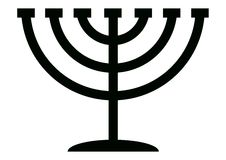 Menorah Candelabrum Stock Photos