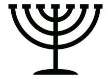 Menorah Candelabrum. Menorah symbol of Hanukkah, 7 branched candlestick holder Stock Photos