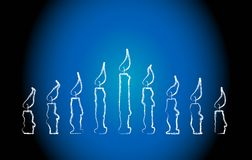 Menorah Candles Stock Images