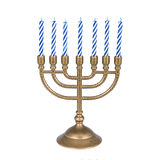Menorah with candles Royalty Free Stock Photography
