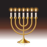 Menorah candles. Hanukkah menorah with candles isolated on background. Vector illustration