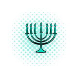 Menorah comics icon. On white background Royalty Free Stock Photo