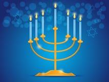 Menorah de Hanukkah Image stock
