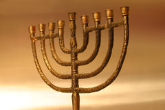 Menorah de Hanukkah Photographie stock
