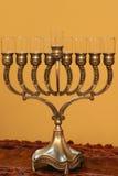 Menorah de Hanukkah images stock