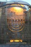 Menorah de Hanukkah fotos de archivo