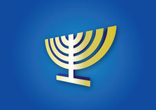 Menorah de Hanukkah Image libre de droits