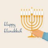 Menorah de Hanukkah Vector ilustración del vector