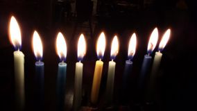 Menorah de Lit Photos stock