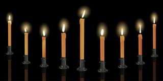 Menorah de nueve velas