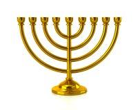 Menorah de oro de Hanukkah