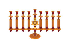 Menorah decorativo isolato illustrazione di stock
