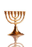 Menorah di Hanukkah Fotografia Stock