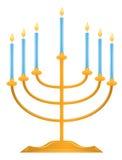 Menorah di Hanukkah Immagini Stock