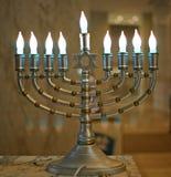 Menorah do Hanukkah imagens de stock