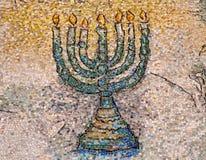 Menorah do mosaico imagens de stock royalty free