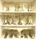 Menorah ebreo del lampadario a bracci fotografia stock libera da diritti