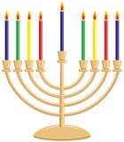 menorah hanukkah Стоковые Фотографии RF