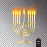 Menorah Happy Hanukkah greeting card Stock Image