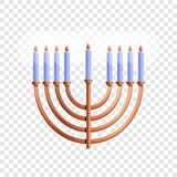 Menorah icon, cartoon style royalty free illustration
