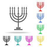 Menorah icon. Elements of religion multi colored icons. Premium quality graphic design icon. Simple icon for websites, web design,. Mobile app, info graphics on vector illustration